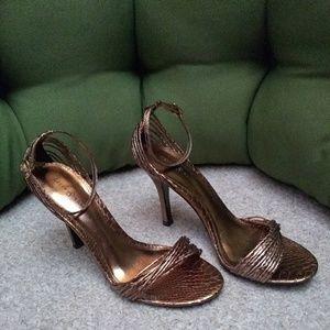 Copper Metallic Heels